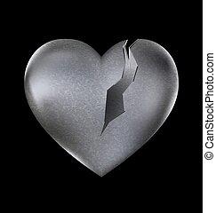 cassé, pierre, coeur