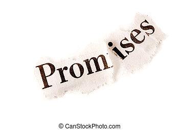 cassé, promesses