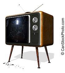 cassé, tv, retro