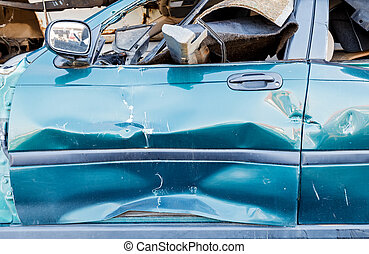 cassé, voiture