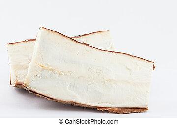 Cassava (Manihot esculenta) isolated in white background