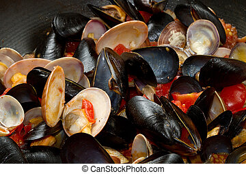 mollusk - casserole with mix of mollusk