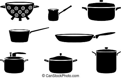 casseroles, pots