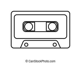 cassete áudio, ícone