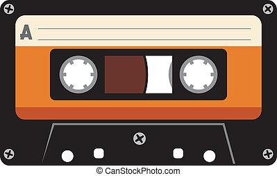 cassetta, audio, nastro