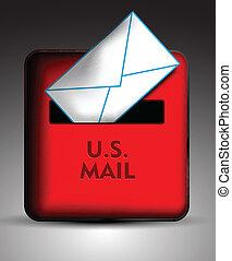 cassetta postale, icona