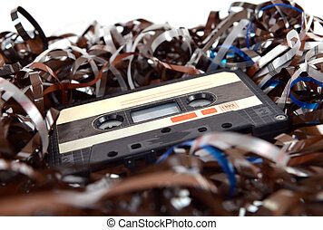 Cassette and tape background
