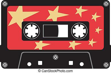 cassette, audio, cinta