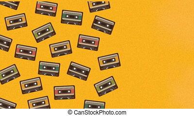Cassette design background, Video Animation HD1080
