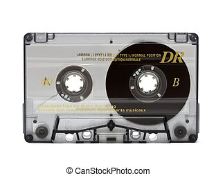 Cassette - Audio cassette isolated on white background