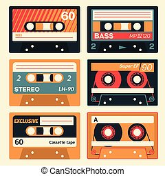 cassette, ensemble, vendange