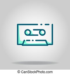 cassette icon or logo in  twotone - Logo or symbol of ...