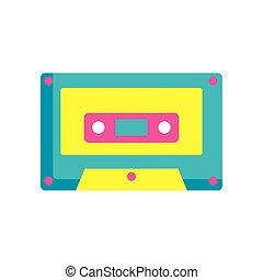 cassette music pop art style icon
