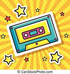 cassette pop art style icon