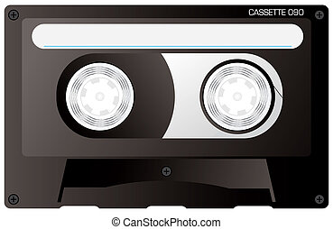 cassette tape black - An illustration of a reto black...