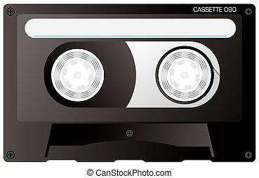 cassette tape black - An illustration of a reto black...