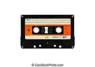 Cassette tape. - Closeup cassette tape isolate on white...