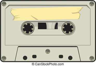 Cassette Tape - This is a vector graphic of a cassette tape.