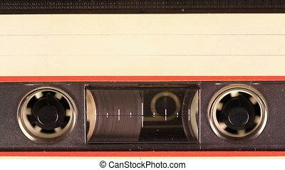 Cassette Tape White blank label