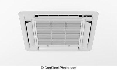 Cassette type air conditioner blowing cold air