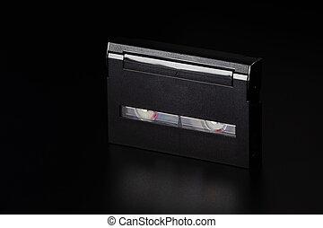 cassette, vieux, compact, table., vidéo