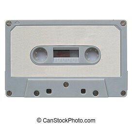 Cassette with blank label