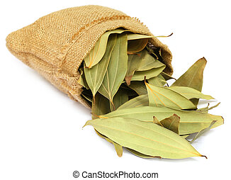 Cassia leaves in sack