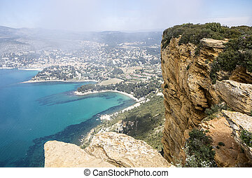 Cassis And The Route de Crete - The town of Cassis and part...