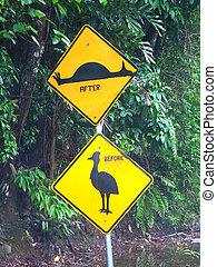 Cassowary Sign - Australia