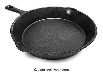 cast-iron, cacerola, freír