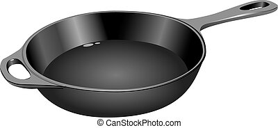 Cast iron frying pan - The cast-iron frying pan for home use...