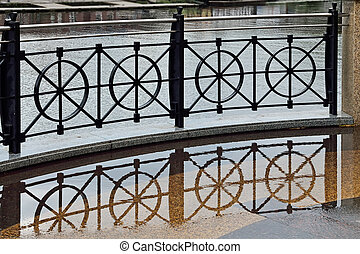 Cast iron grill on the waterfront - Beautiful curved iron ...