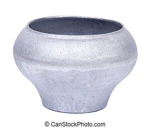 Cast iron pot, cauldron on white background