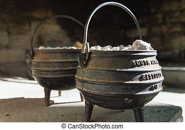 Cast Iron Pot - A cast iron pot is used for traditional...