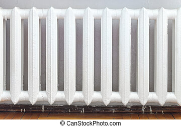 cast-iron radiator of water heating