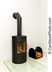 Cast iron woodstove