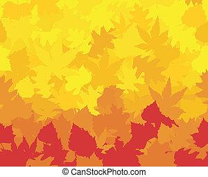 castagna, reds, wallpaper., saturato, quercia, colorito, formare, foglie, autunno, faggio, acero, gialli, arance