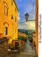 Castagneto Carducci old stone village in Maremma....