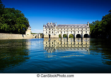 caste of Chenonceau - spectacular view of Chenonceau Castle...