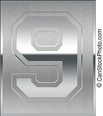 casted, aantalteken, plek, positie, negen, zilver