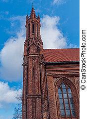 castel, assise, vilnius, lituanie, saint, églises, francis, anna