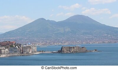 Castel dell Ovo - view of the Gulf in Naples with the Egg...