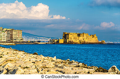 Castel dell'Ovo, a medieval fortress in the bay of Naples