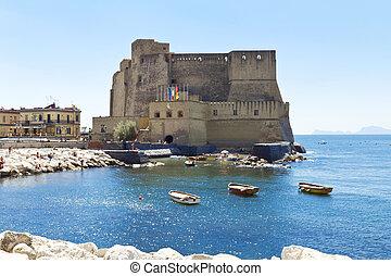 castel, dell'ovo, neapol, włochy