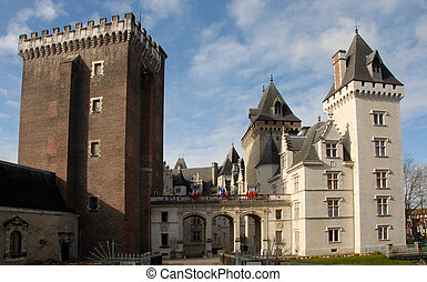 Castel of Pau, In Pyr�n�es Orientales, France.