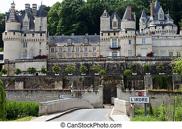 Castel of Rigny-Usse Known as the Sleeping Beauty Castle and built in the eleventh century. Loire Valley, France