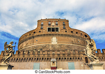 Castel Ponte Sant Angelo Vatican Castle Bernini Angels Rome Italy