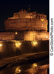 Castel Sant' Angelo night in Rome