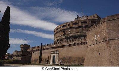Castel Sant Angelo - Hadrian mausoleum in Rome , Italy