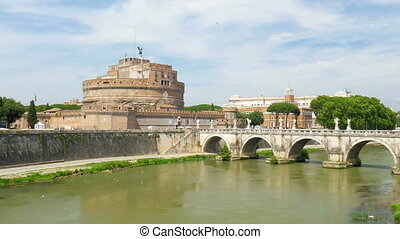 """""""castel sant'angelo, castle of the holy angel, rome, italy, 4k"""""""